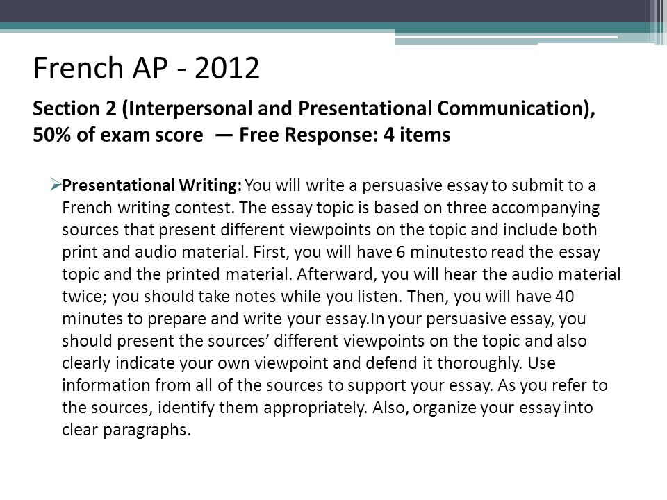 Performancebased Assessment Teaching To The Ap  Ppt Download Curriculum Design French Ap Section  Interpersonal And Presentational  Communication  Of