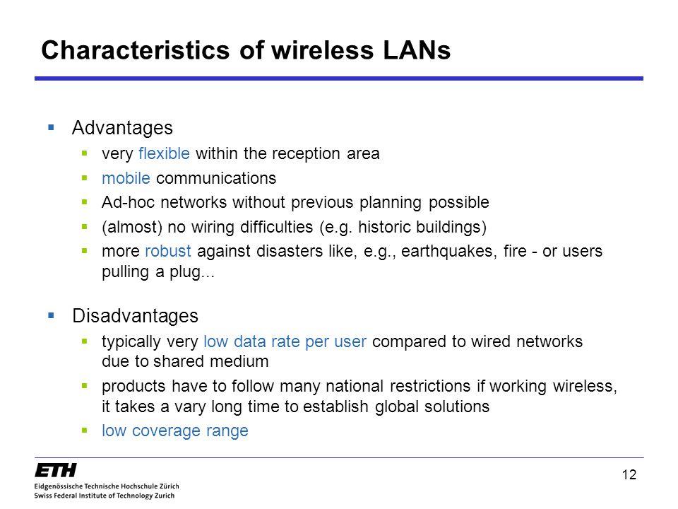 characteristics of wireless technology