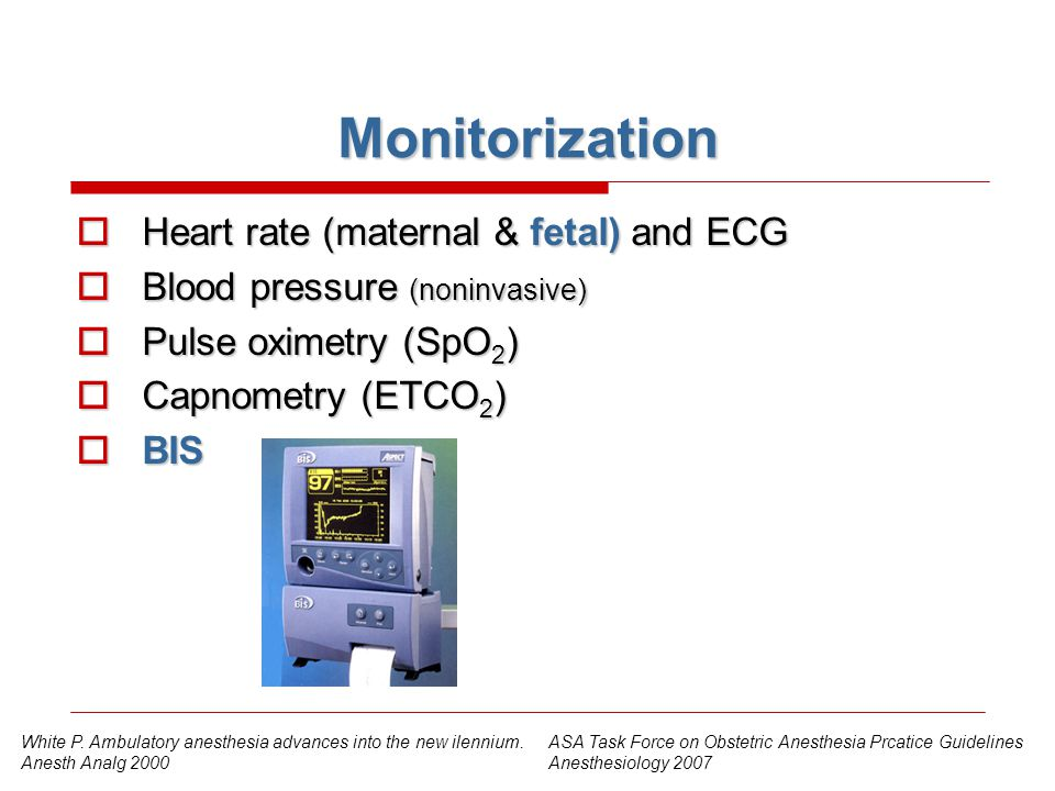 Monitorization Heart rate (maternal & fetal) and ECG