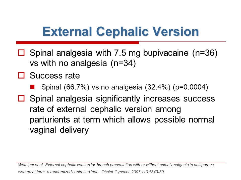 External Cephalic Version