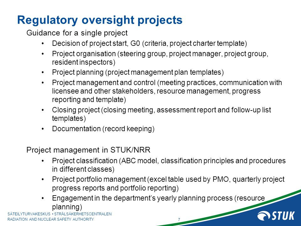 Regulatory project management ppt download 7 regulatory oversight projects maxwellsz