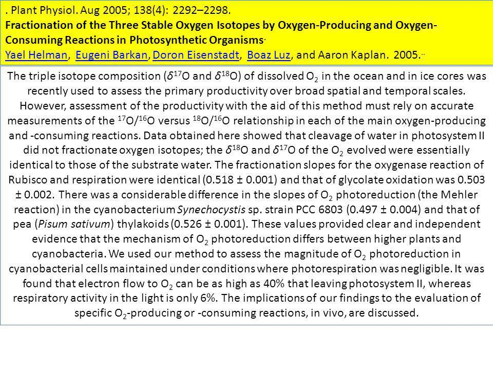 . Plant Physiol. Aug 2005; 138(4): 2292–2298.