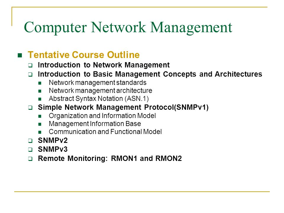 Computer Network Management