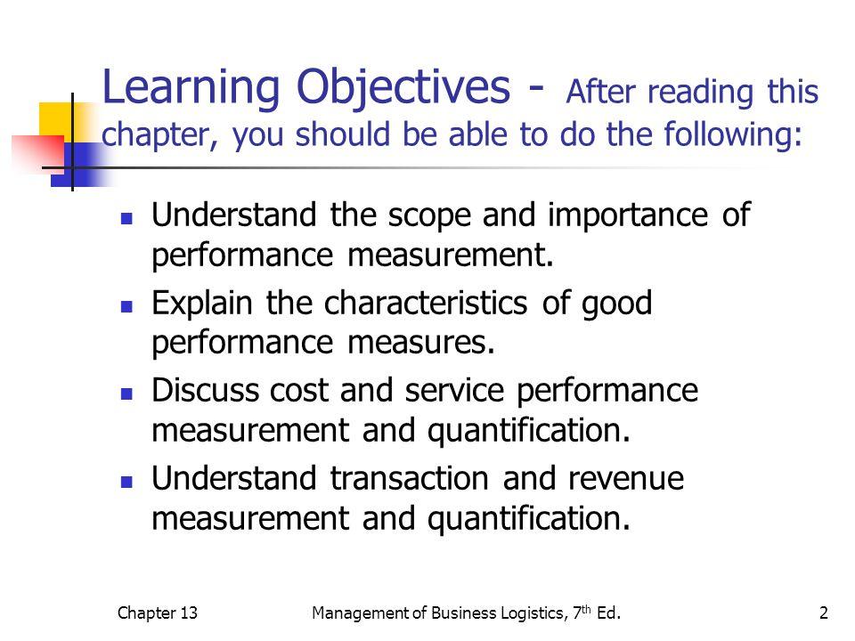 logistics performance measurement