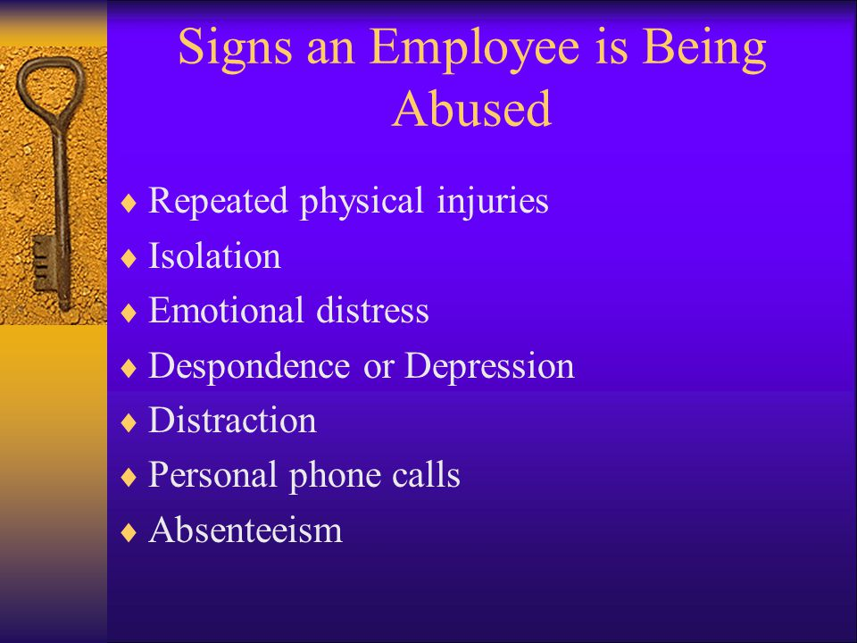 Signs an Employee is Being Abused