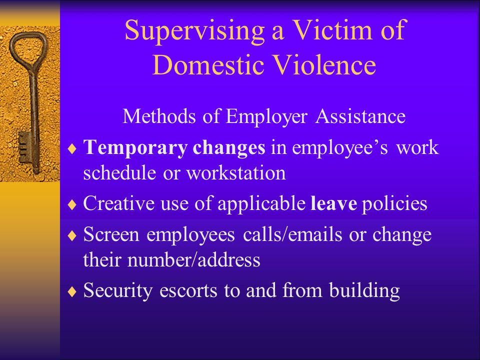 Supervising a Victim of Domestic Violence
