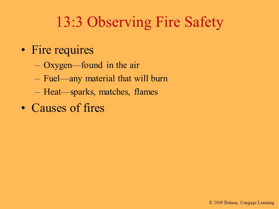 13:3 Observing Fire Safety