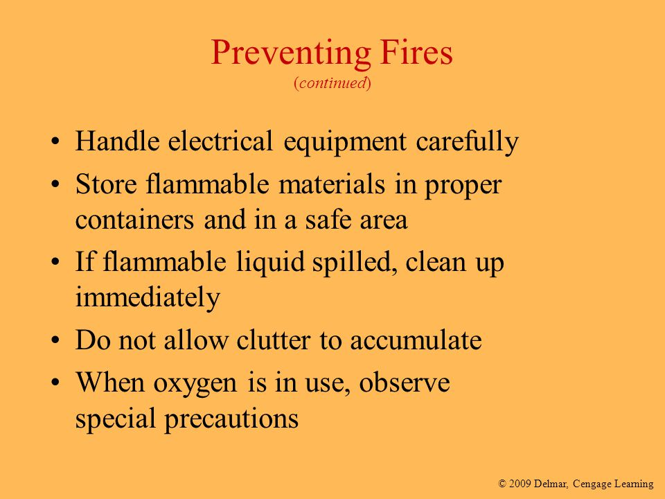 Preventing Fires (continued)