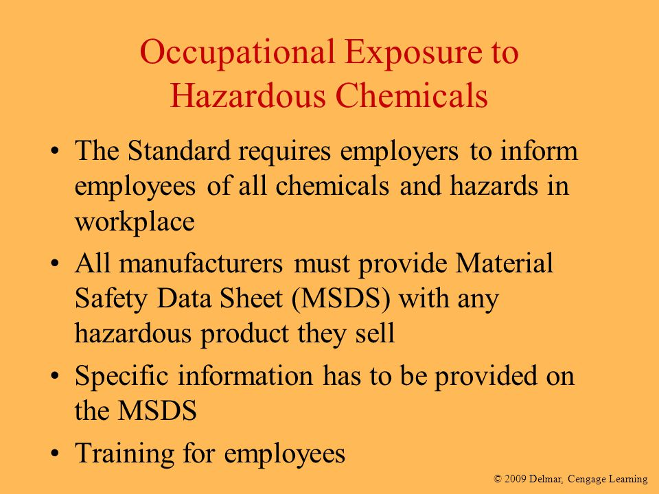 Occupational Exposure to Hazardous Chemicals