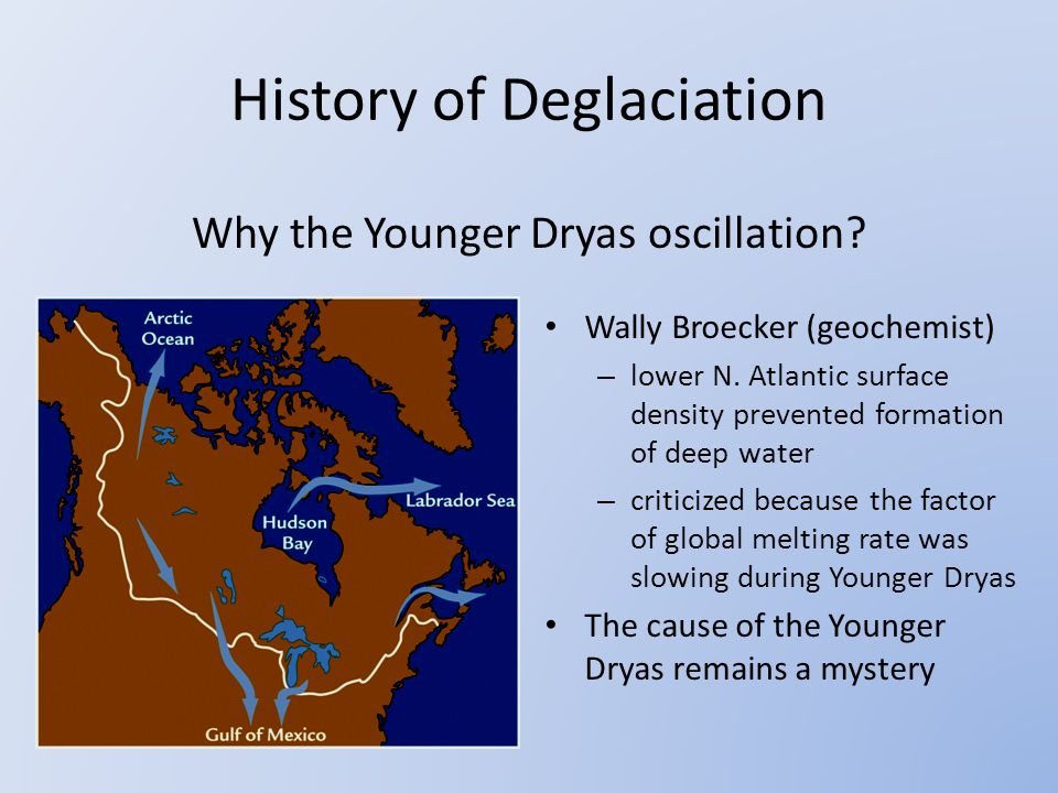 Why the Younger Dryas oscillation