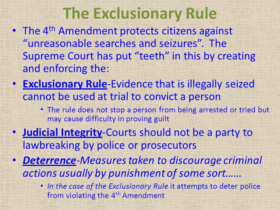 The Exclusionary Rule
