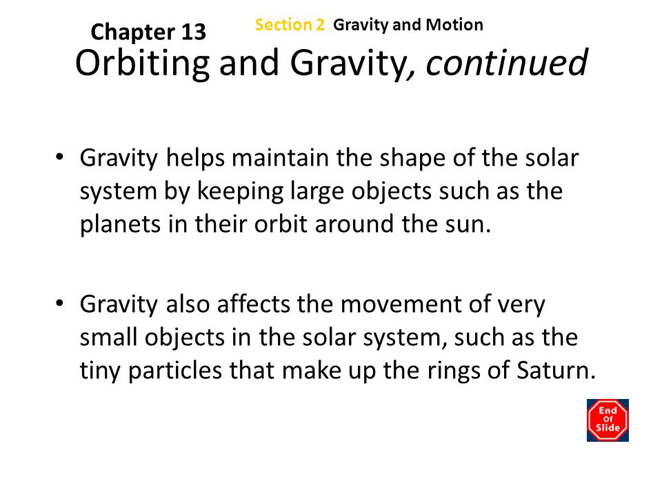 Orbiting and Gravity, continued
