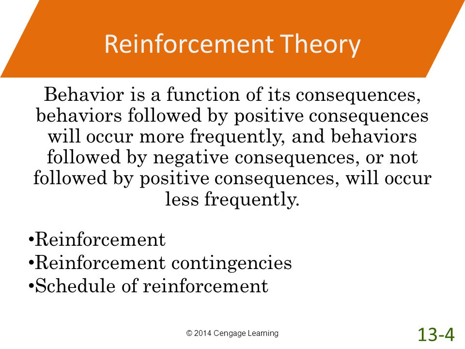 Reinforcement Theory 13-4