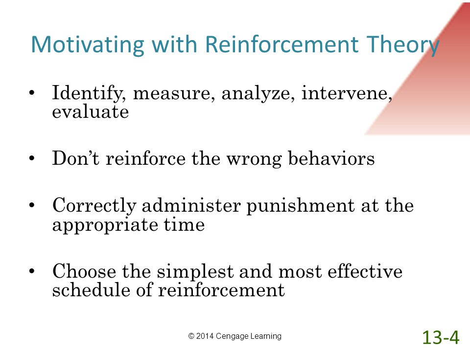 Motivating with Reinforcement Theory