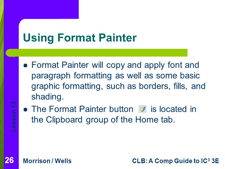Using Format Painter