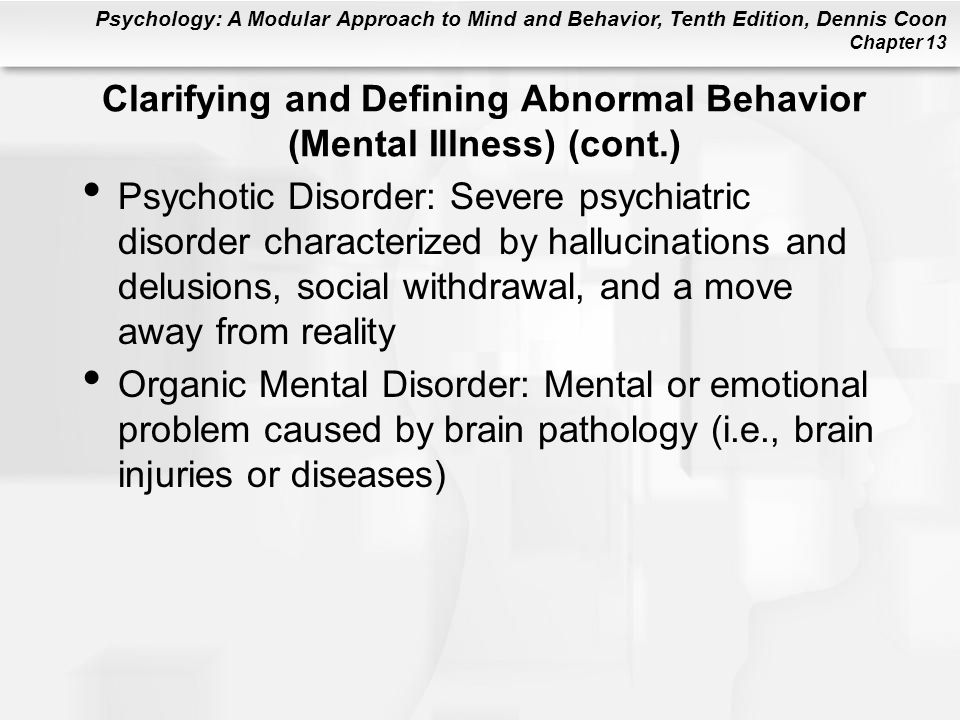Sexual deviant behavior and causes in mental illness