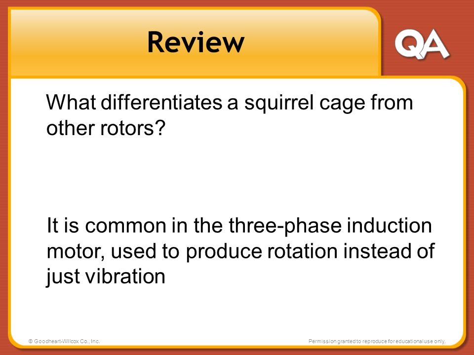 Review What differentiates a squirrel cage from other rotors