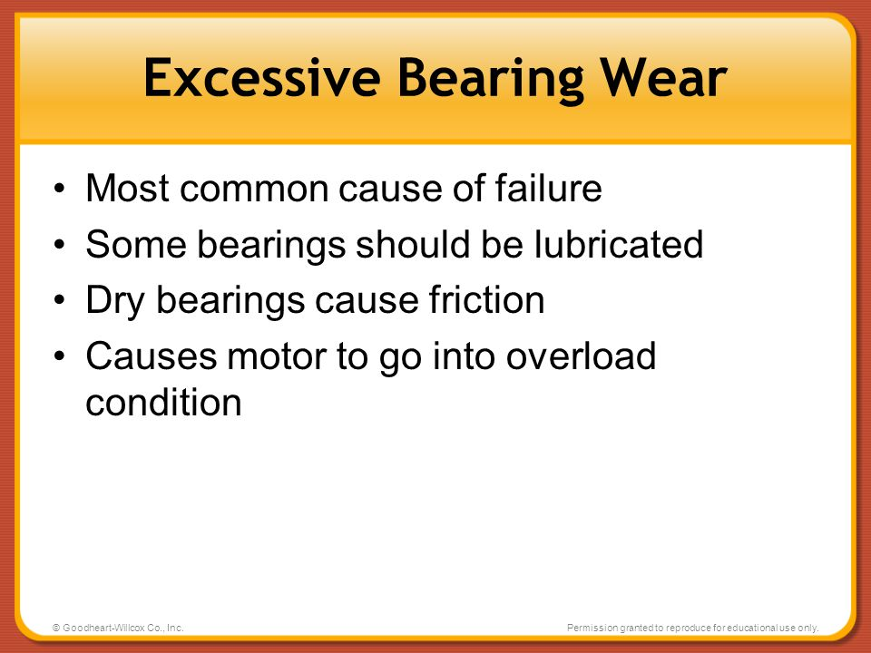 Excessive Bearing Wear