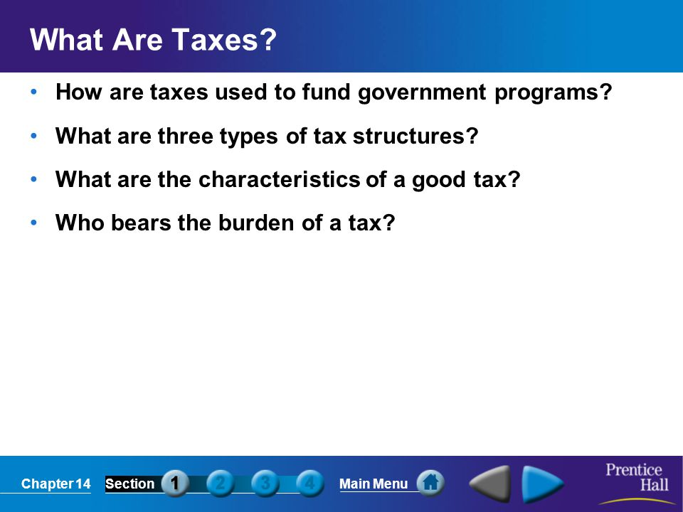 What Are Taxes How are taxes used to fund government programs