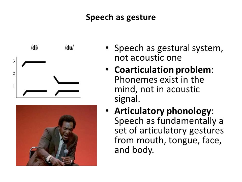 Speech as gestural system, not acoustic one