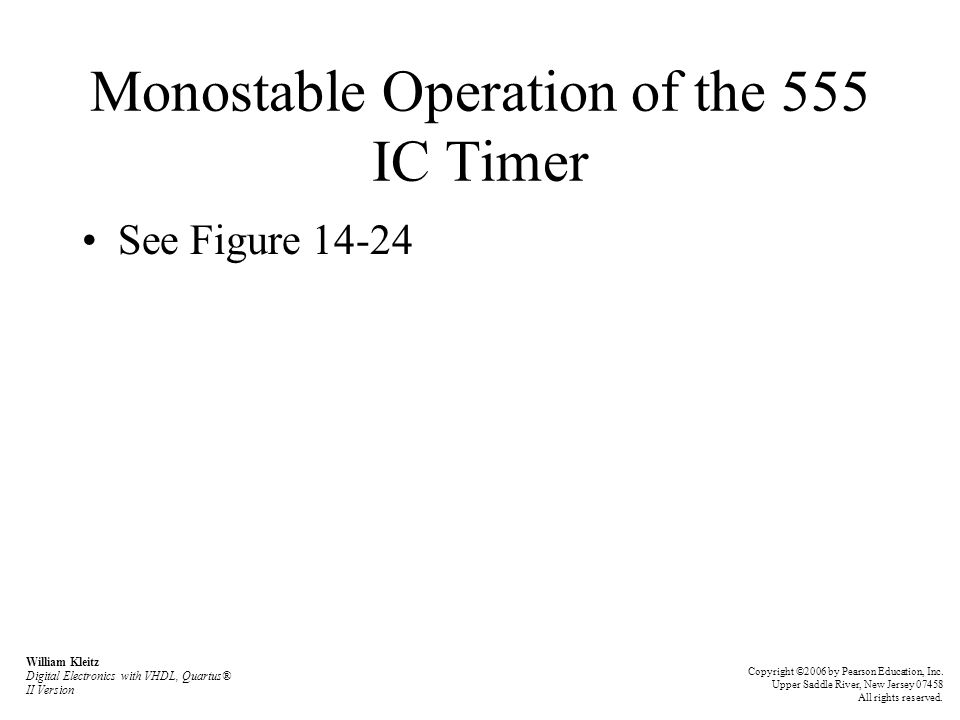 Monostable Operation of the 555 IC Timer