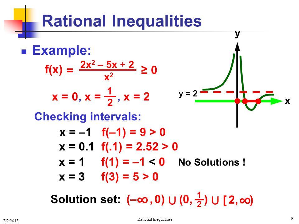 Rational Inequalities Ppt Video Online Download