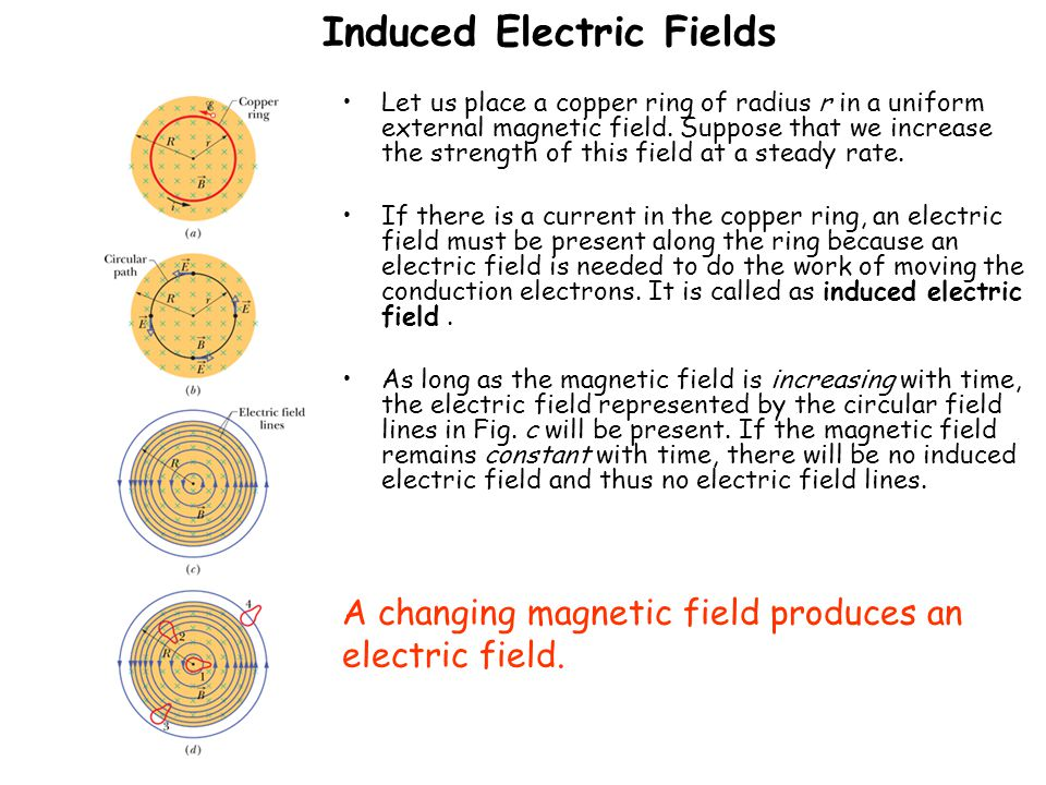 Induced Electric Fields