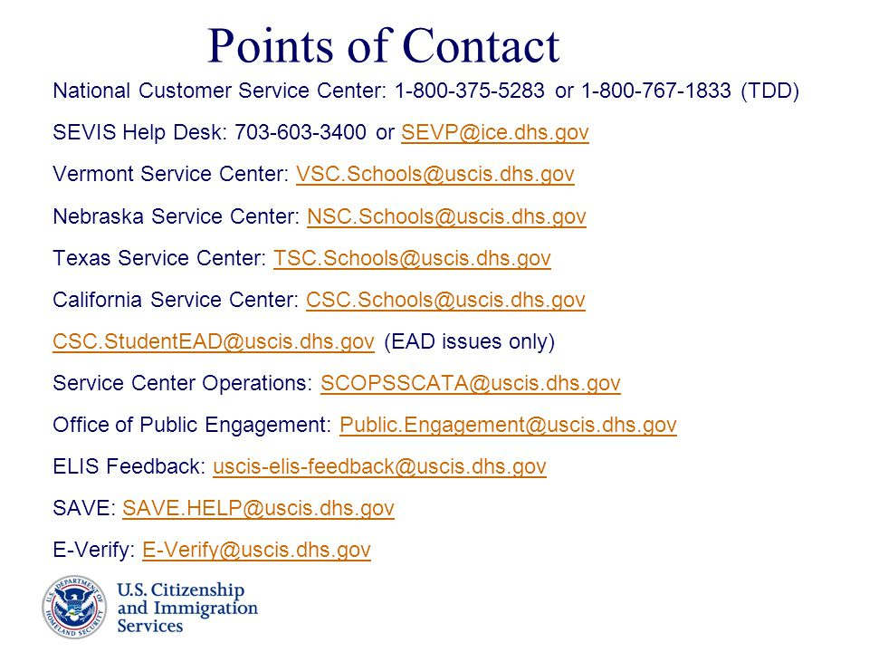 34 Points Of Contact National Customer Service Center: ...
