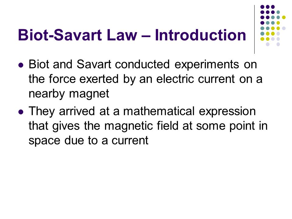 Biot-Savart Law – Introduction