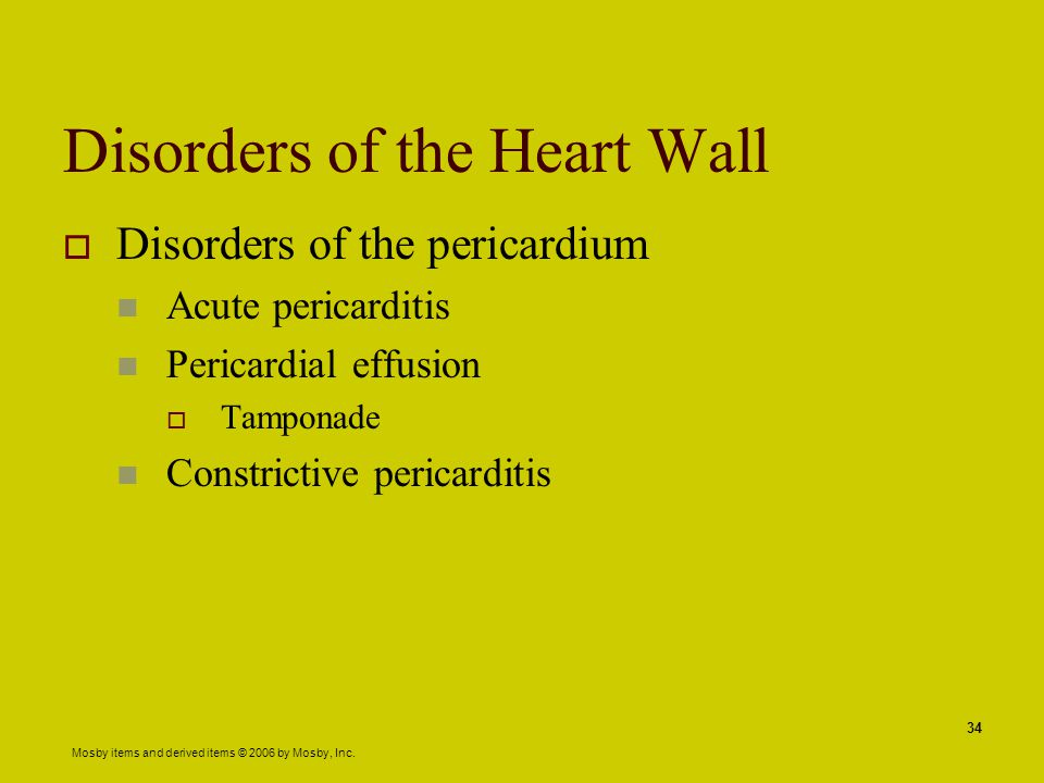 Disorders of the Heart Wall