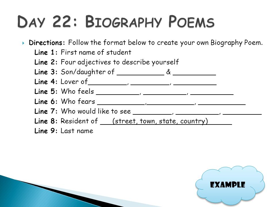 how to create a biography