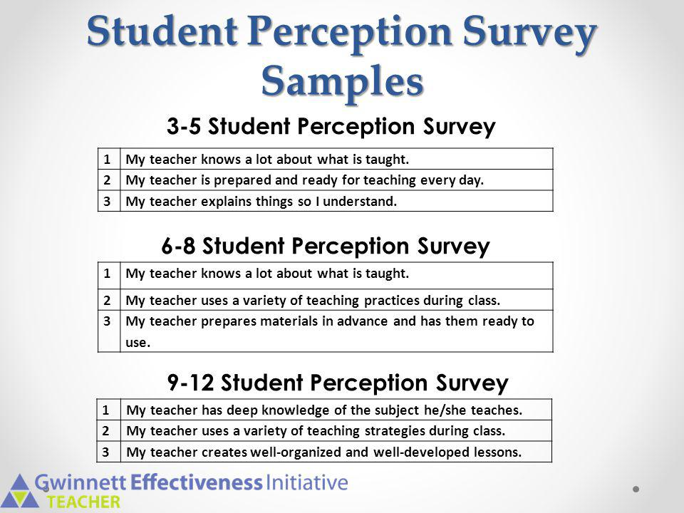 Student Perception Survey Samples