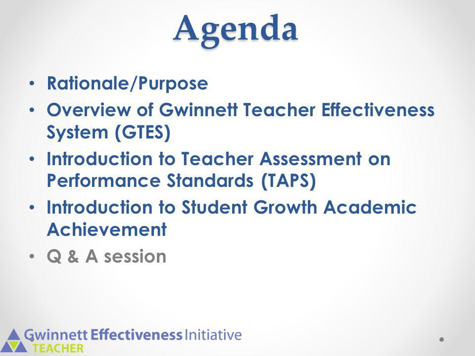 Agenda Rationale/Purpose