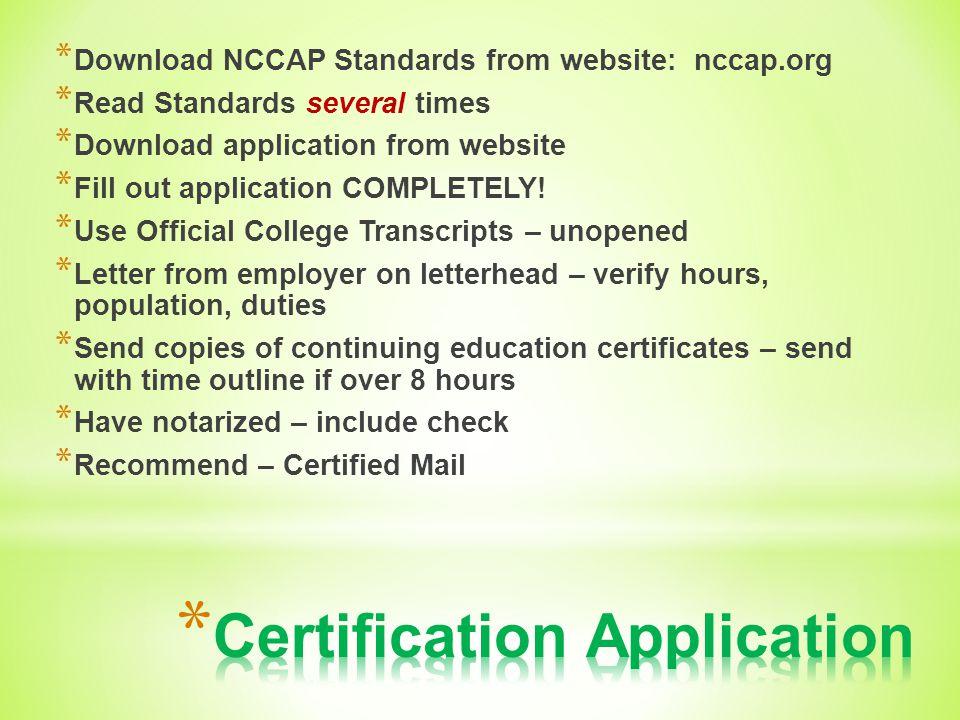 NCCAP Certification Process - ppt video online download