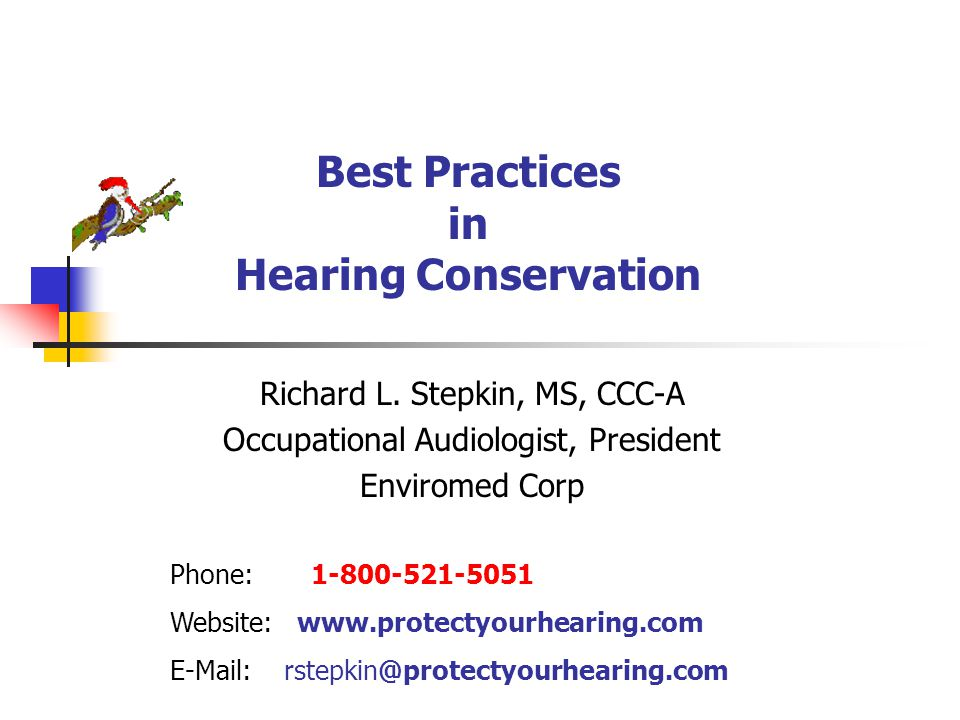 Best Practices In Hearing Conservation Ppt Download
