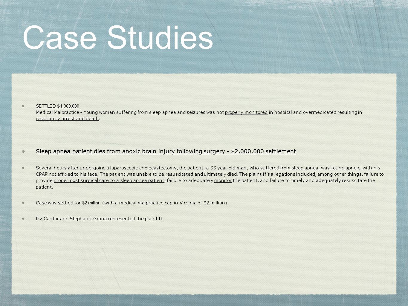 perioperative care case study
