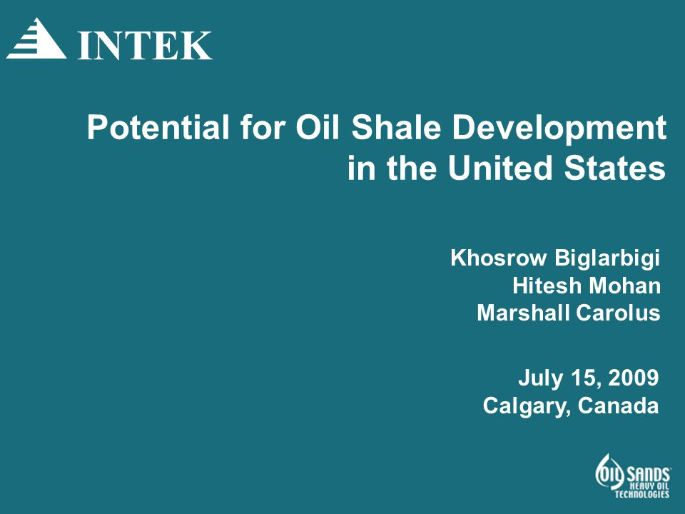 Potential for Oil Shale Development in the United States