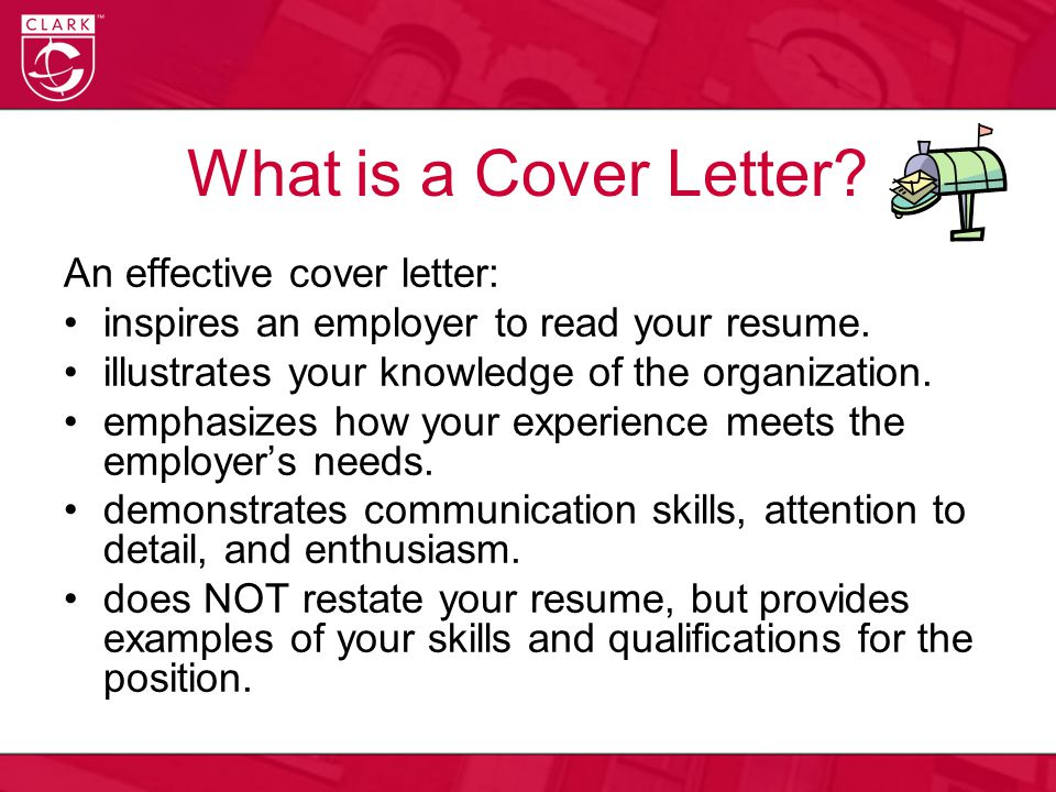 What is a Cover Letter An effective cover letter: