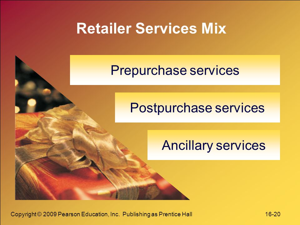 Postpurchase services