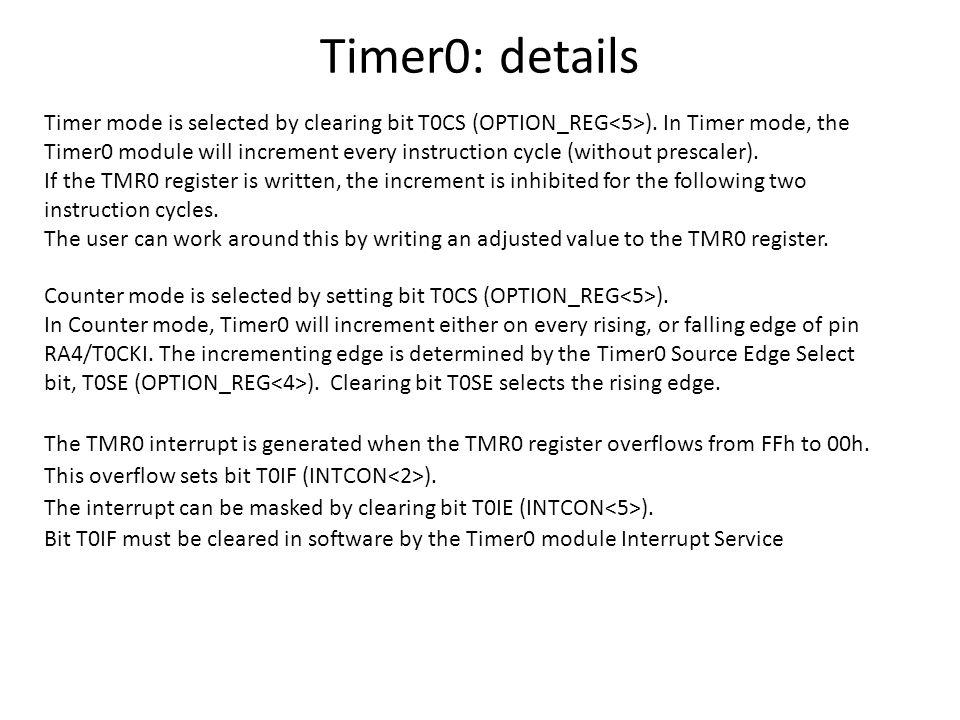 Pic Timer0 Prescaler