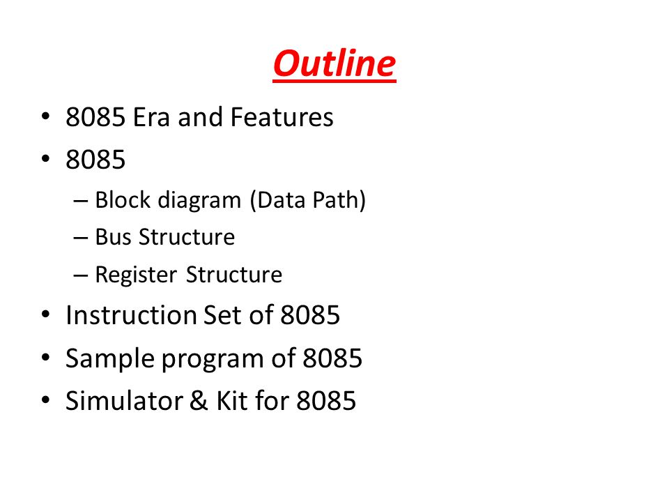 Superb 8085 Architecture Its Assembly Language Programming Ppt Video Wiring Digital Resources Warobapapkbiperorg