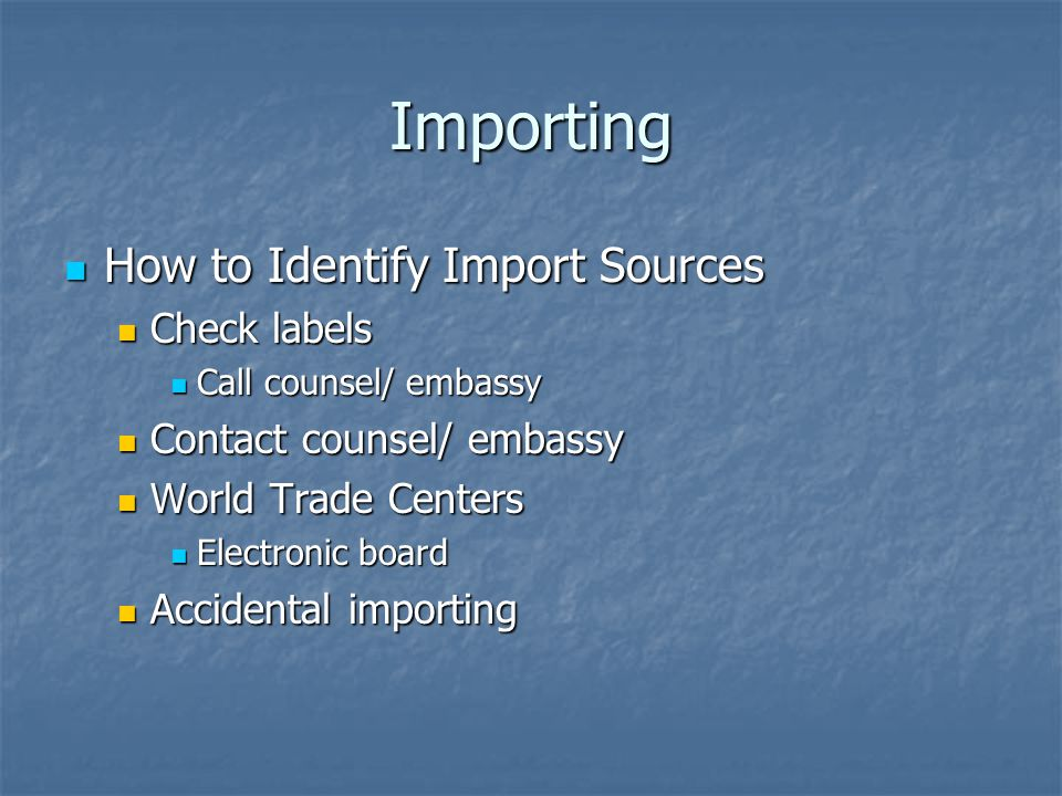 Importing How to Identify Import Sources Check labels