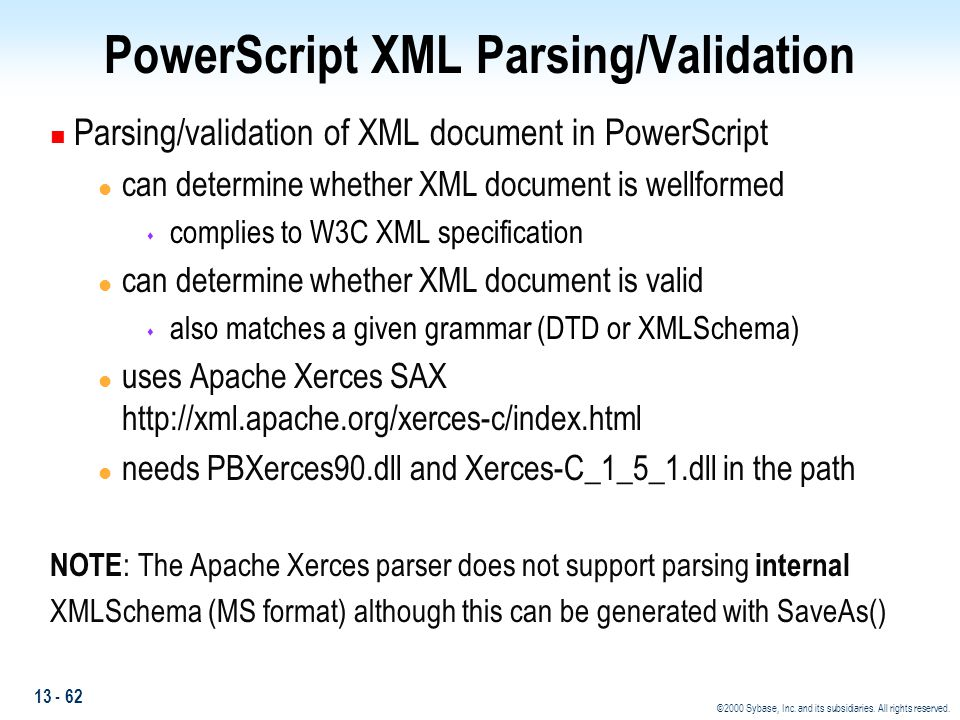 PowerScript XML Parsing/Validation
