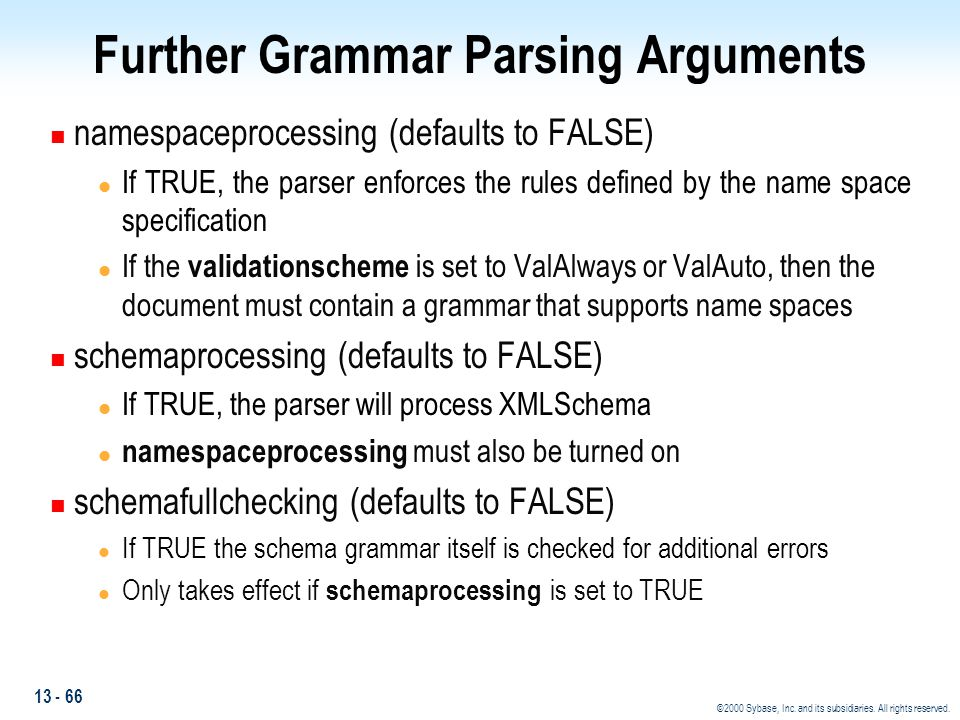 Further Grammar Parsing Arguments