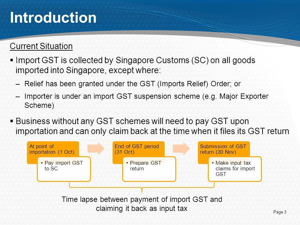 Introduction to Import GST Deferment Scheme (IGDS) - ppt