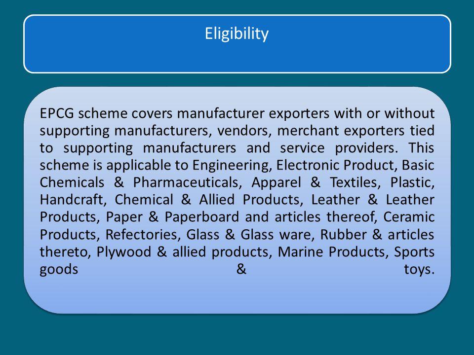 Export Promotion Capital Goods (EPCG) SCHEME  - ppt download