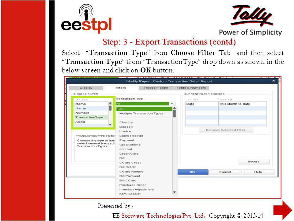 Migration from QuickBooks to Tally - ppt download