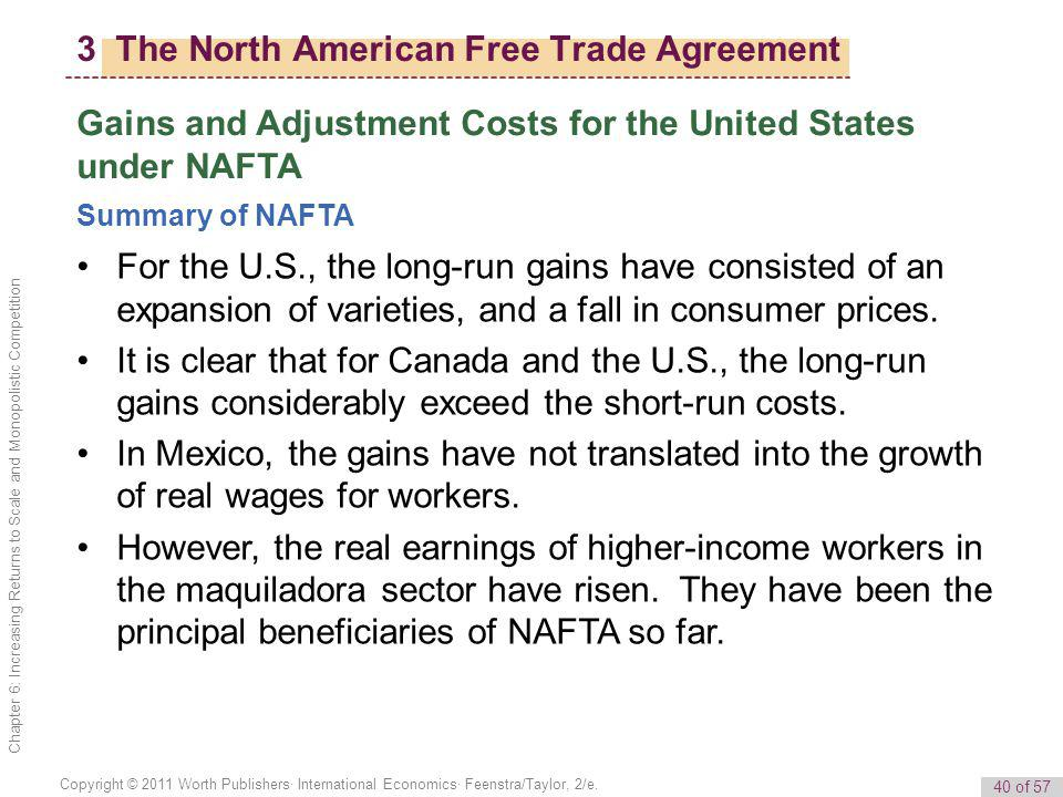a summary of the north american free trade agreement What is the 'north american free trade agreement - nafta' the us - mexico trade agreement, as it is called, will maintain duty free access for agricultural goods on both sides of the border, and eliminate non-tariff barriers while encouraging more agriculture trade between mexico.