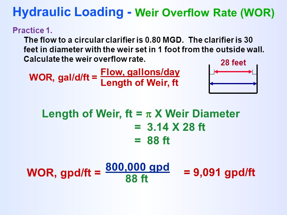 Clarifier Calculations - ppt download