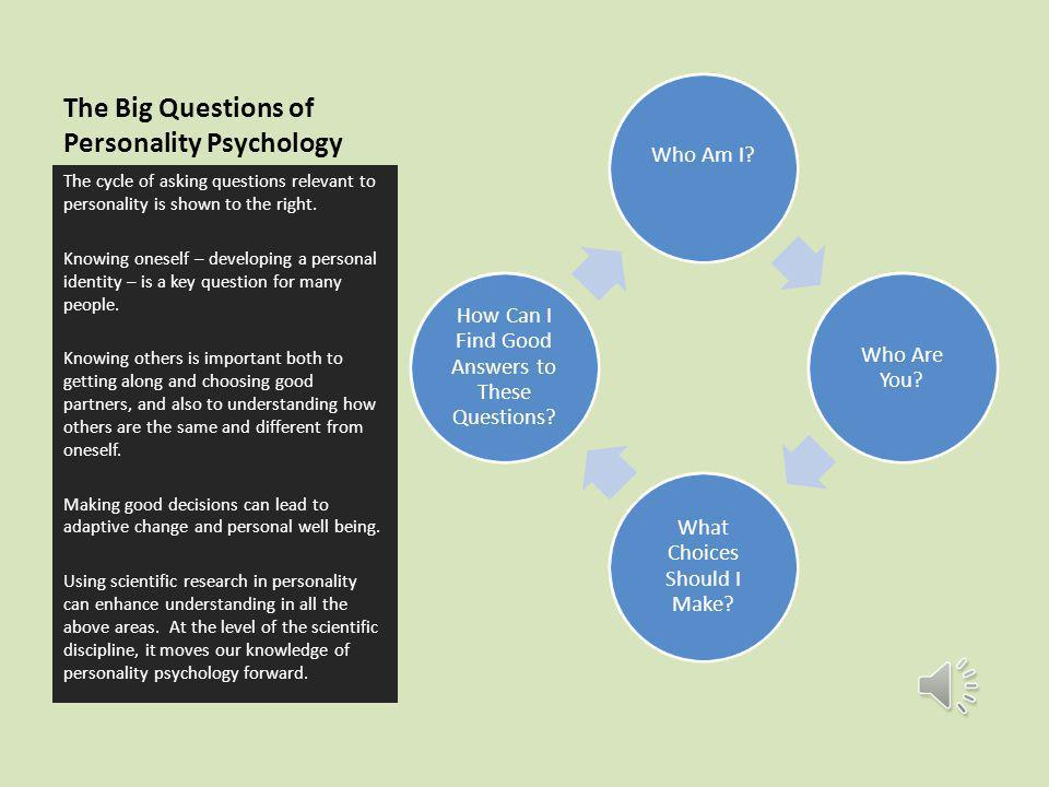 The Big Questions of Personality Psychology - ppt video